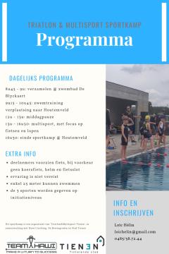 Triatlon sportkamp augustus 2020 Tienen 2